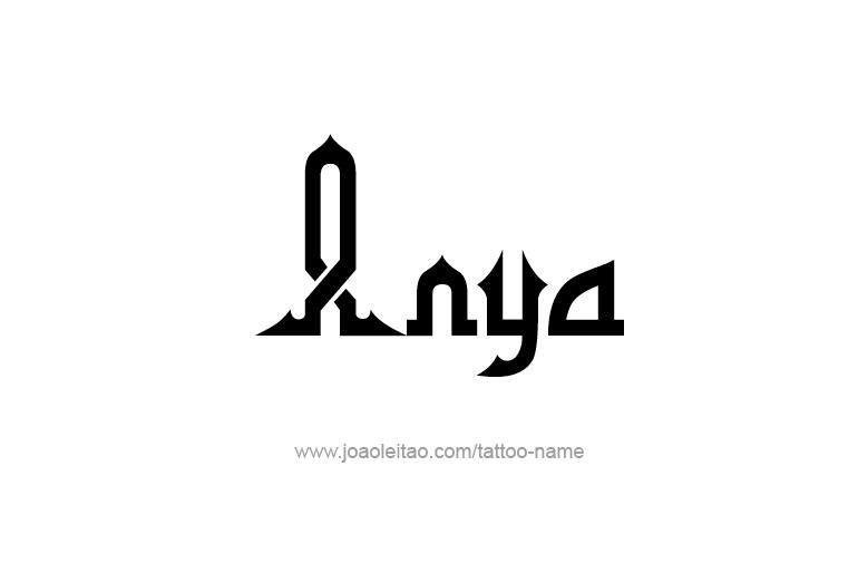 Tattoo Design  Name Anya