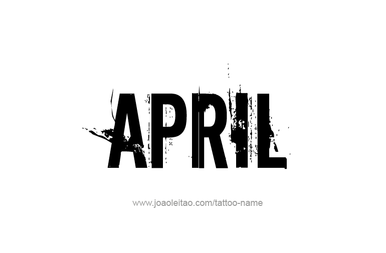 april name tattoo designs