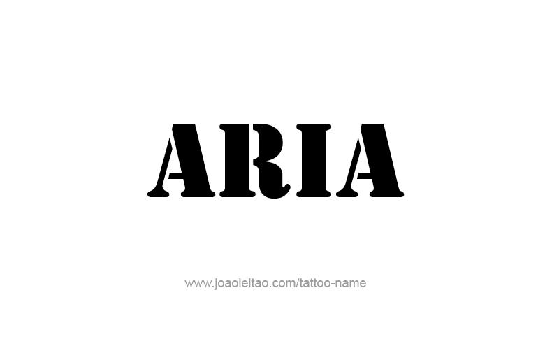 Tattoo Design  Name Aria