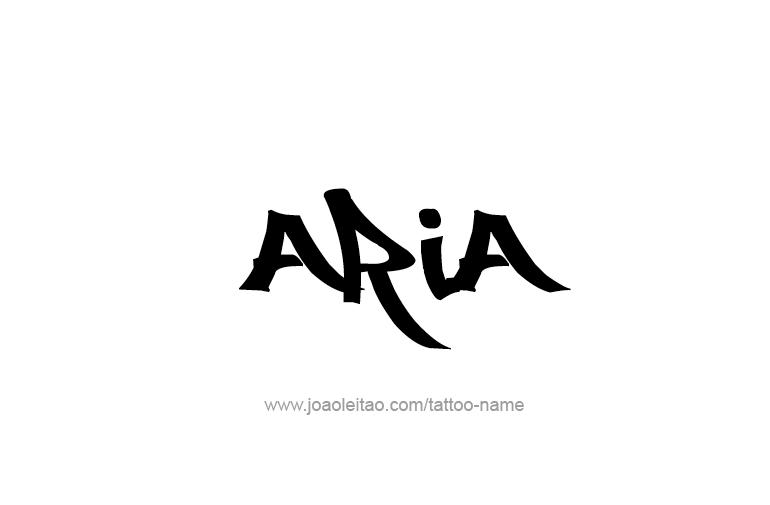 Aria Name Tattoo Designs