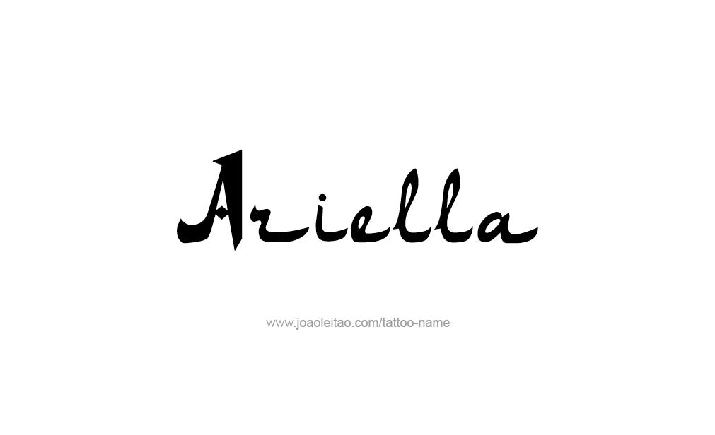 Tattoo Design  Name Ariella