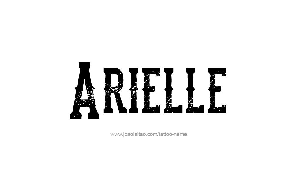 Tattoo Design  Name Arielle