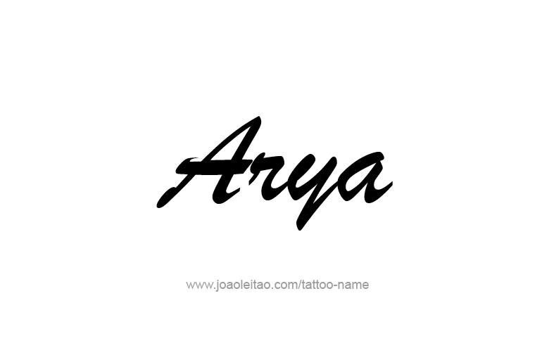 Tattoo Design  Name Arya