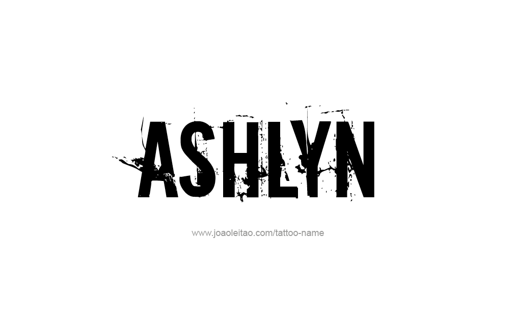Tattoo Design  Name Ashlyn
