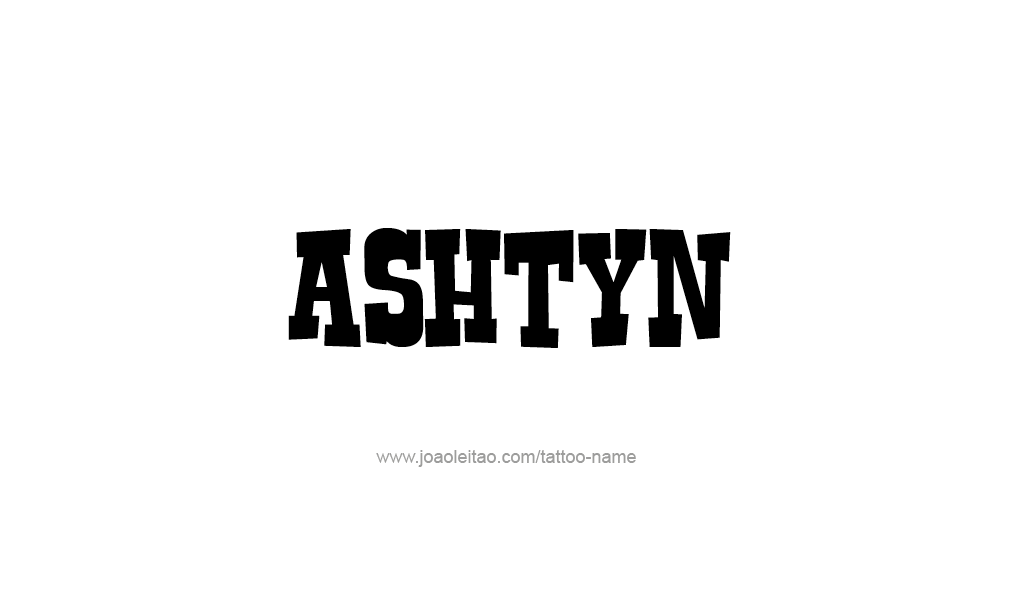 Tattoo Design  Name Ashtyn