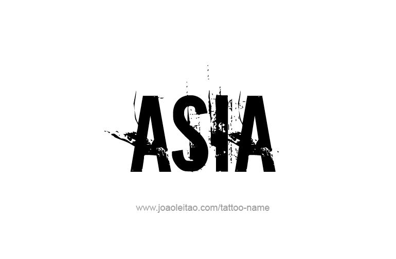 asia name tattoo designs