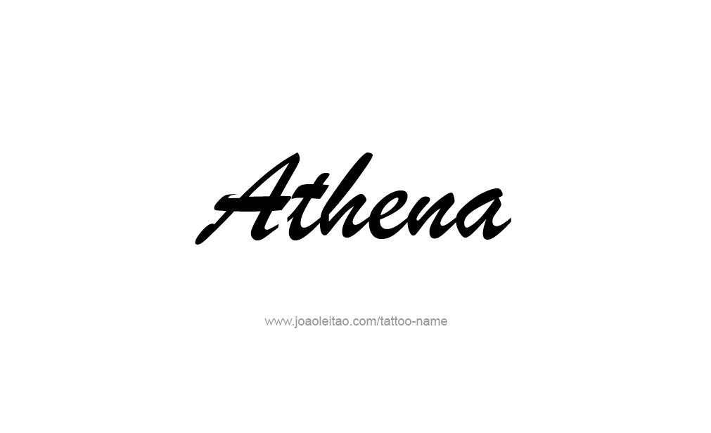 Tattoo Design  Name Athena