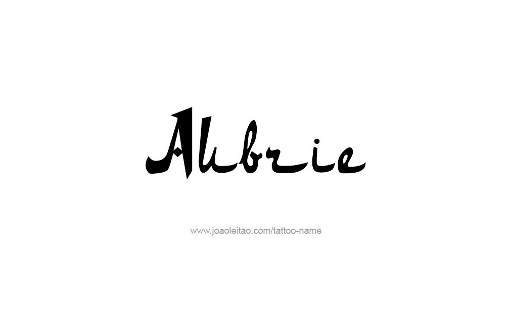 Tattoo Design  Name Aubrie