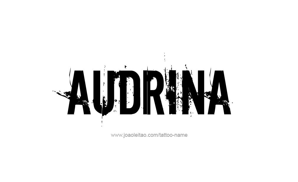 Tattoo Design  Name Audrina