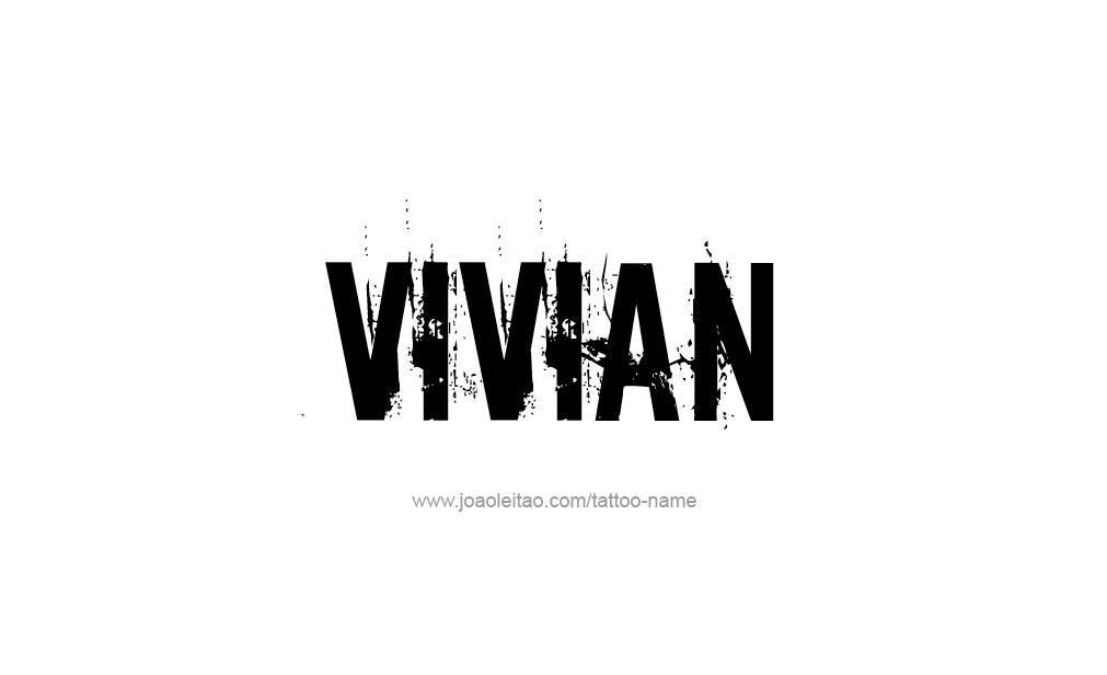 Tattoo Design  Name Vivian