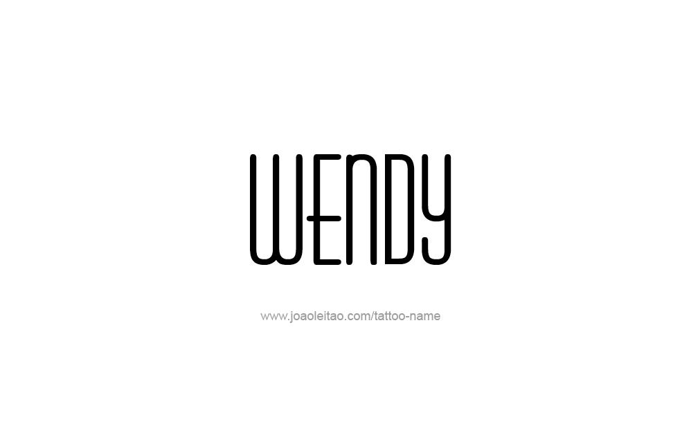 Tattoo Design  Name Wendy
