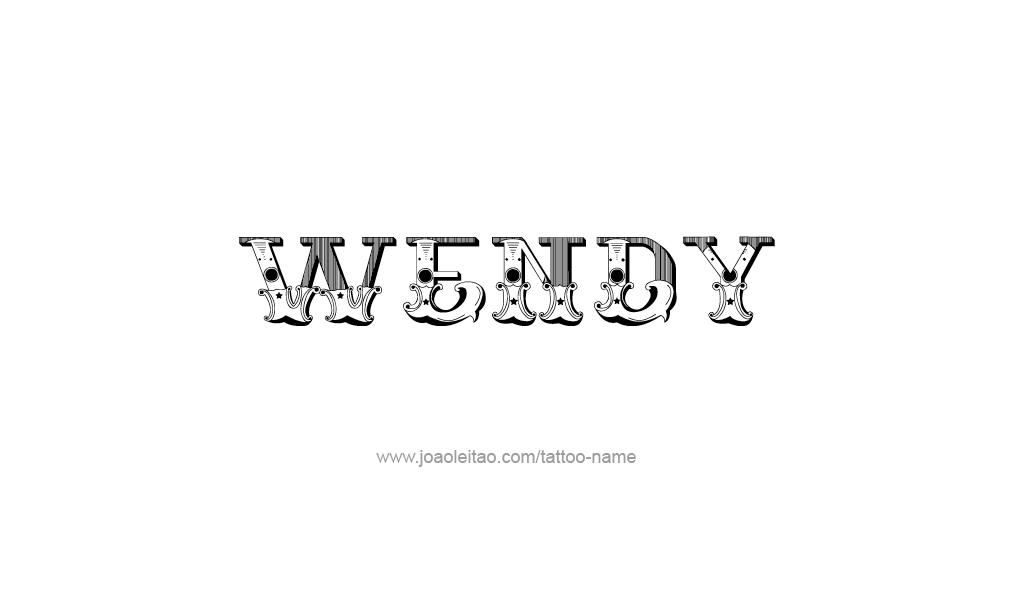 Wendy Name Tattoo Desi...W Letter Design