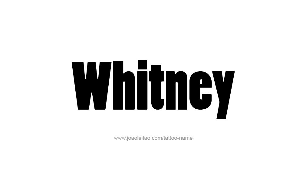 Tattoo Design  Name Whitney