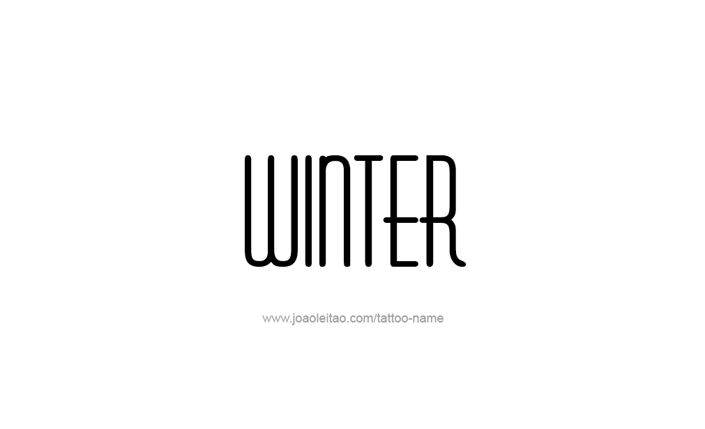 Tattoo Design  Name Winter