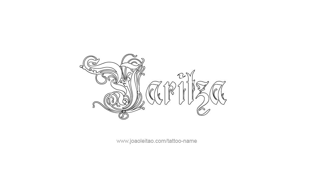 Tattoo Design  Name Yaritza