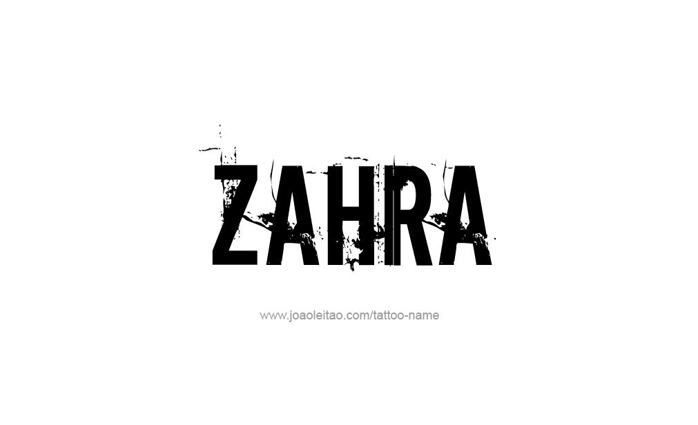 Tattoo Design  Name Zahra