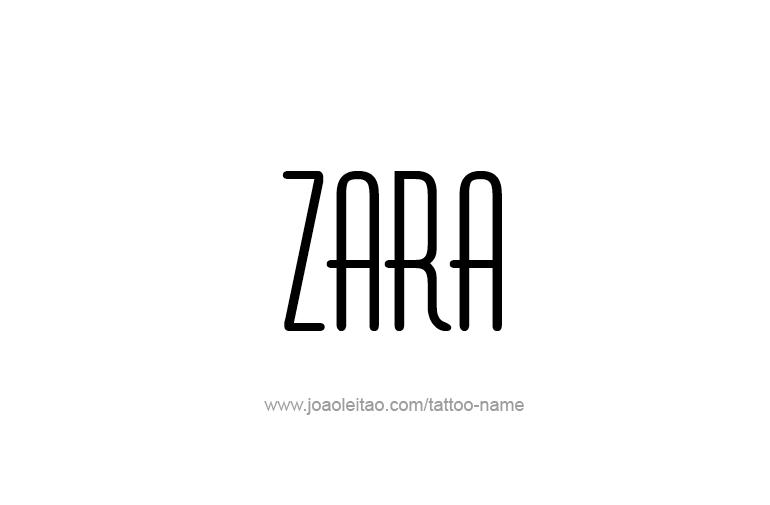 Tattoo Design  Name Zara