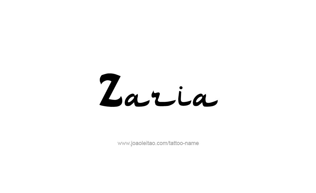 Tattoo Design  Name Zaria