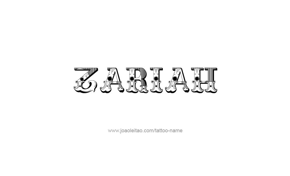 Tattoo Design  Name Zariah