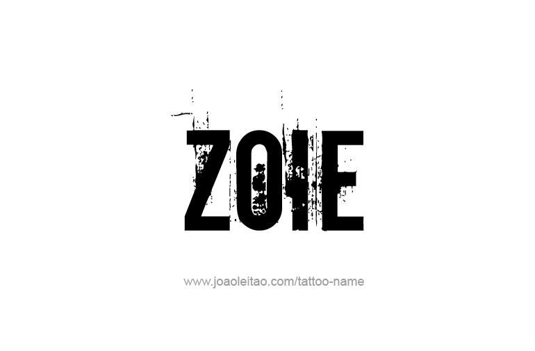 Tattoo Design  Name Zoie