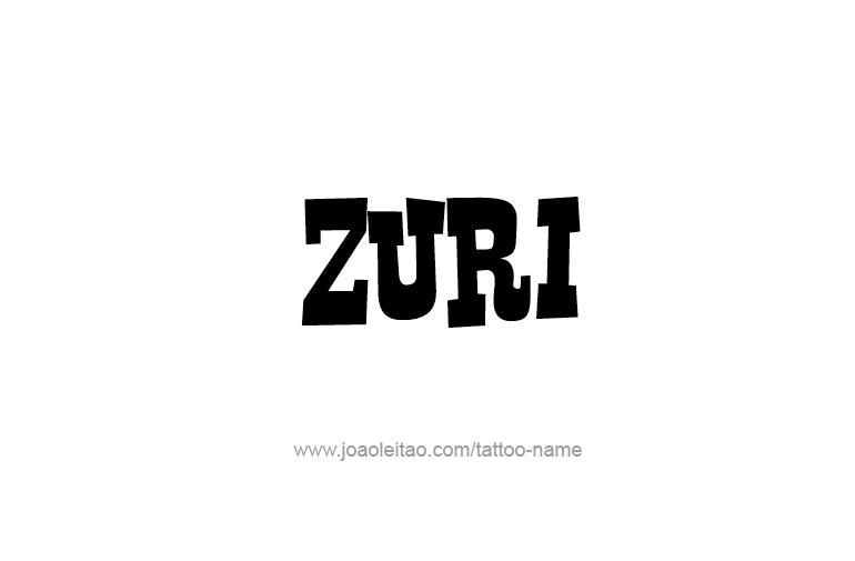 Tattoo Design  Name Zuri