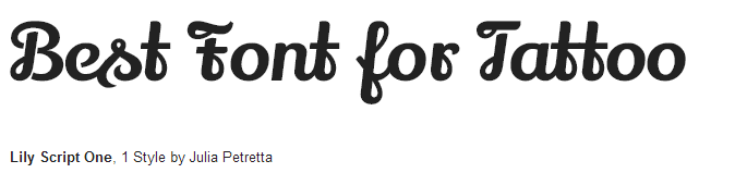 lily script one Font Style