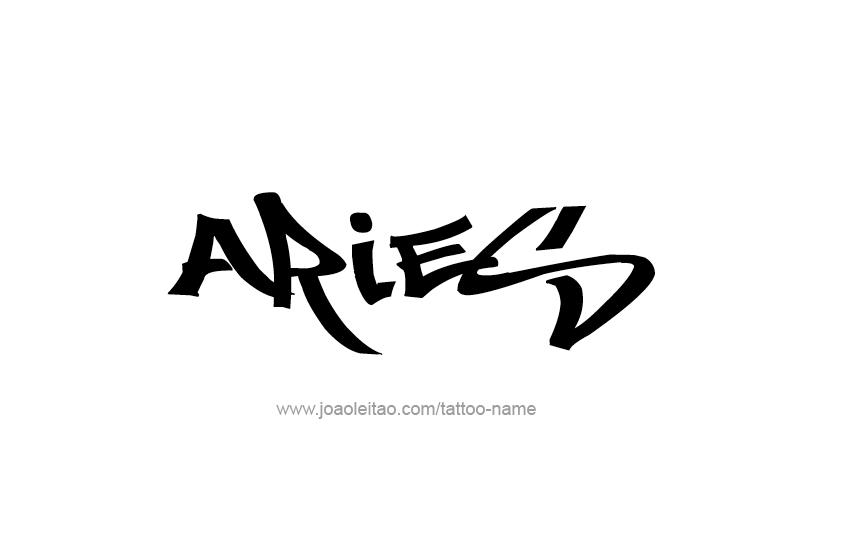 Tattoo Design Horoscope Name Aries