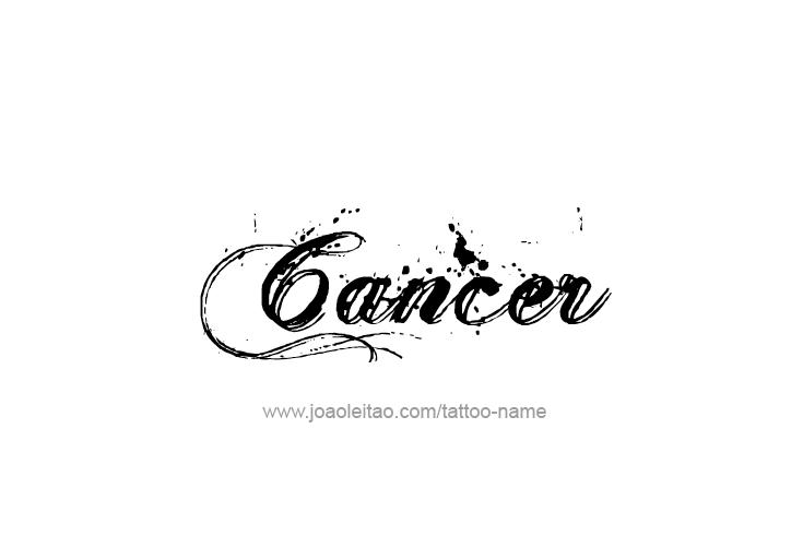 Tattoo Design Horoscope Name Cancer