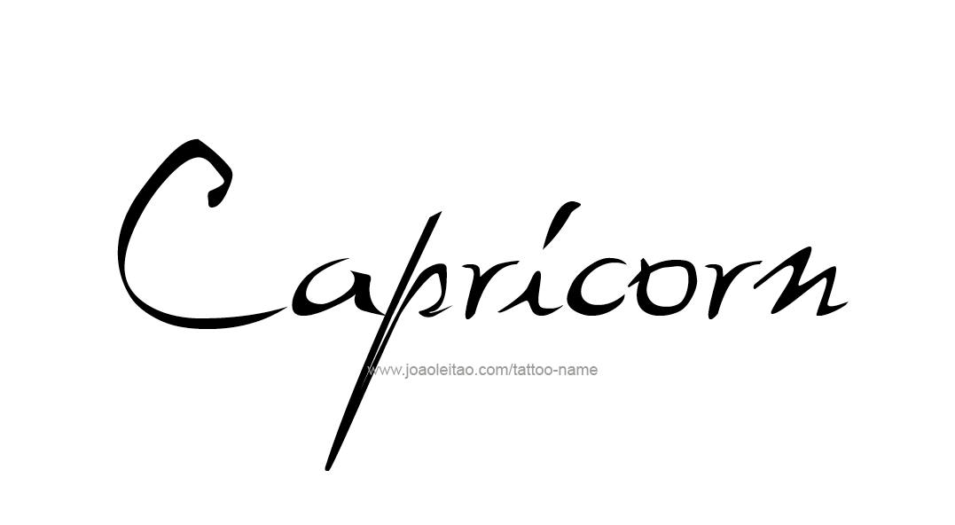 Tattoo Design Horoscope Name Capricorn