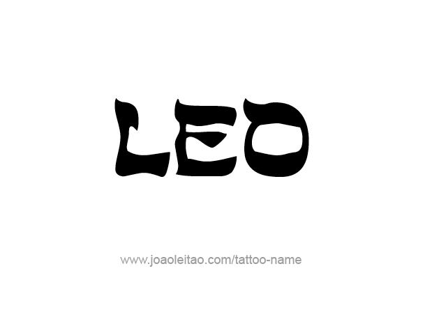 Tattoo Design Horoscope Name Leo