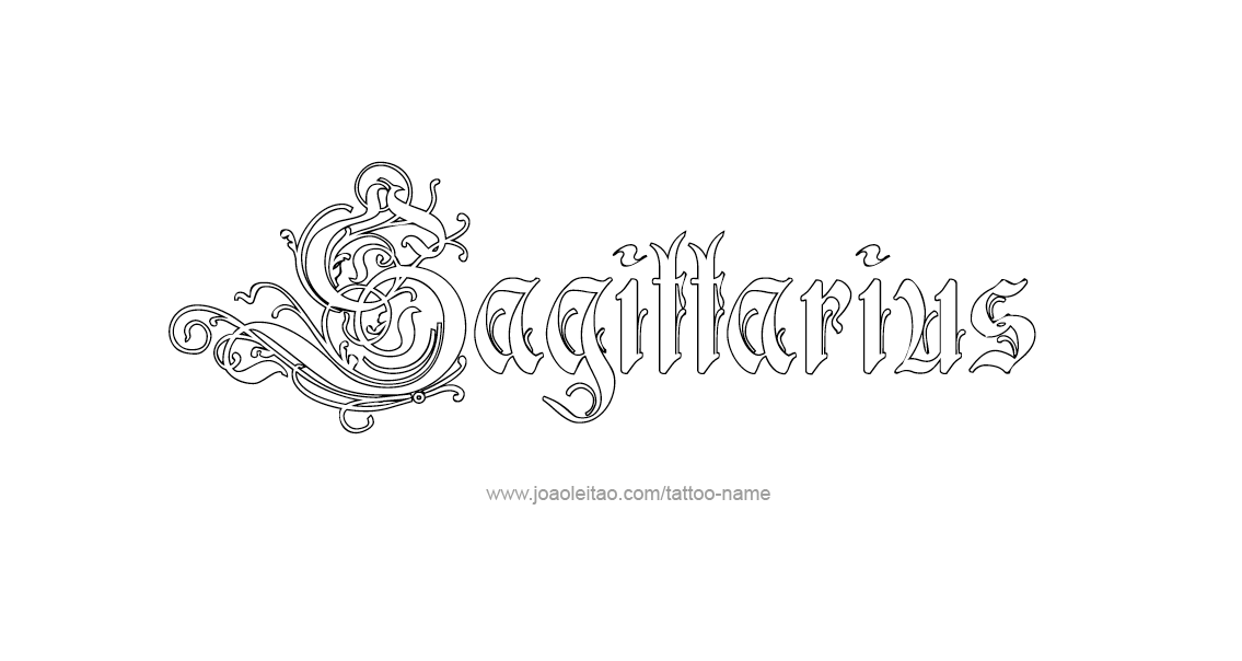 Tattoo Design Horoscope Name Sagittarius