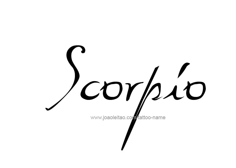 Tattoo Design Horoscope Name Scorpio