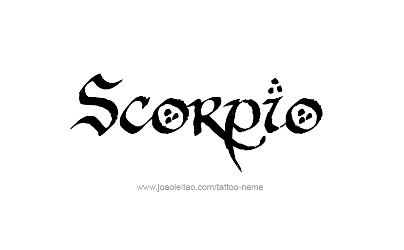 Scorpio Horoscope Name Tattoo Designs - Page 5 of 5