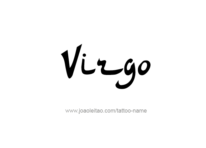 Tattoo Design Horoscope Name Virgo