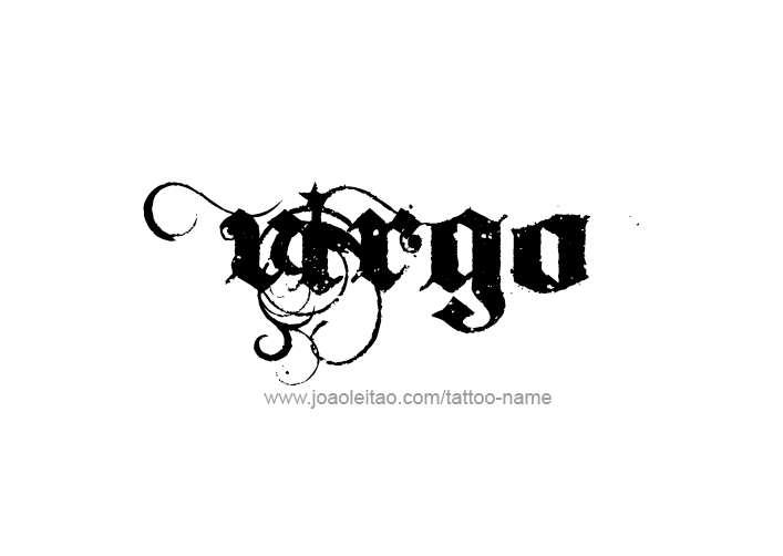 Tattoo Design Horoscope Name Virgo