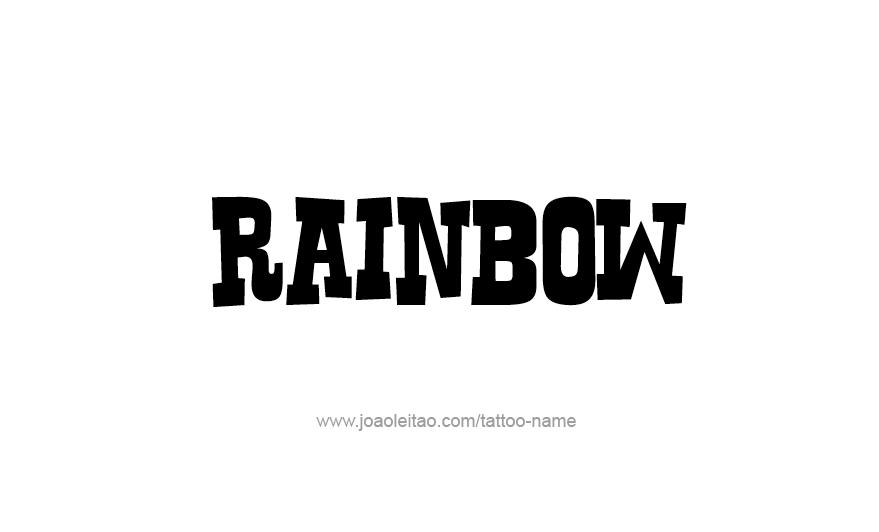 Tattoo Design Love Word Name Rainbow