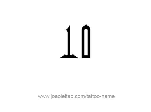 Tattoo Design Number Ten