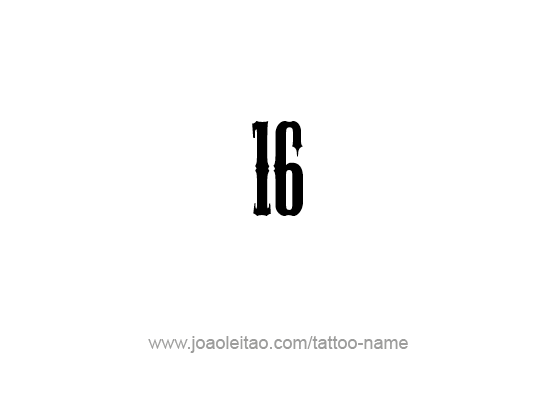 Tattoo Design Number Sixteen
