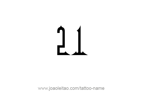 Tattoo Design Number Twenty One