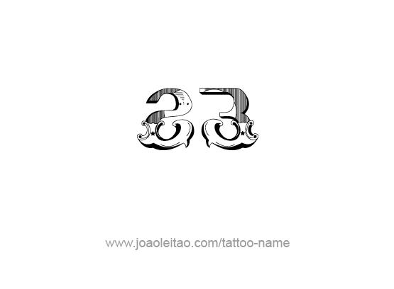 Tattoo Design Number Twenty Three