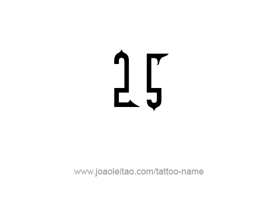 Tattoo Design Number Twenty Five