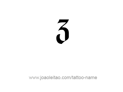 Three-3 Number Tattoo Designs - Page 3 of 4 - Tattoos with Names