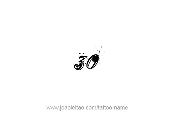 Tattoo Design Number Thirty