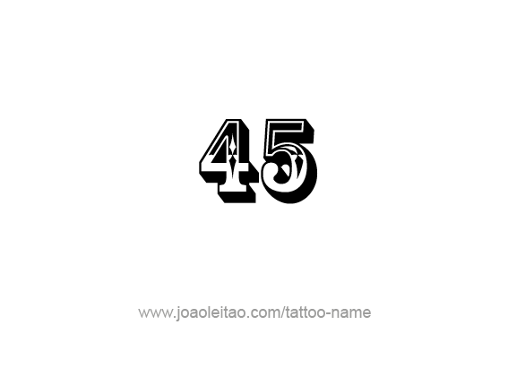 Forty Five-45 Number Tattoo Designs - Page 2 of 4 - Tattoos with Names