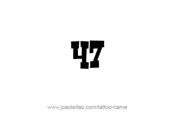 Tattoo Design Number Forty Seven