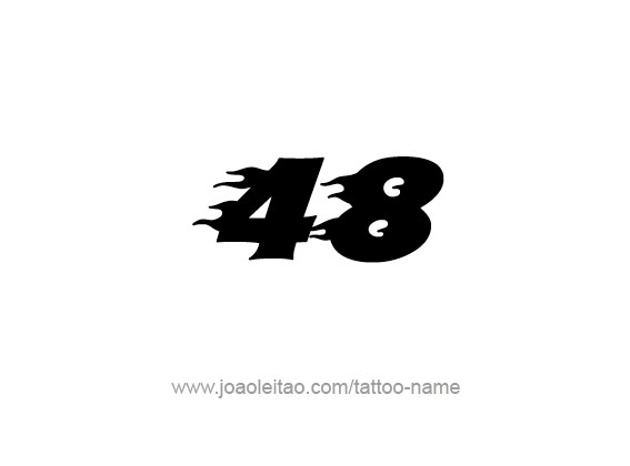 Tattoo Design Number Forty Eight