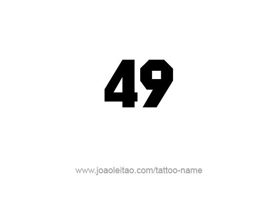 Tattoo Design Number Forty Nine