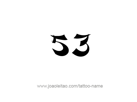 Tattoo Design Number Fifty Three