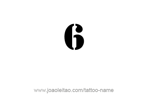 Tattoo Design Number Six