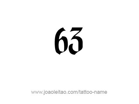 Tattoo Design Number Sixty Three